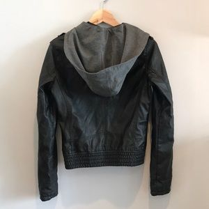 Tobi black leather jacket